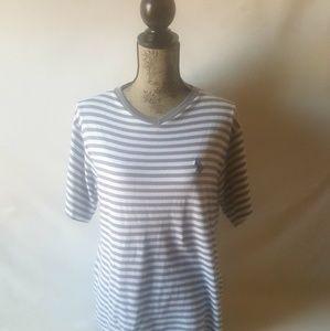 U.S. polo assn.women's short sleeve striped top